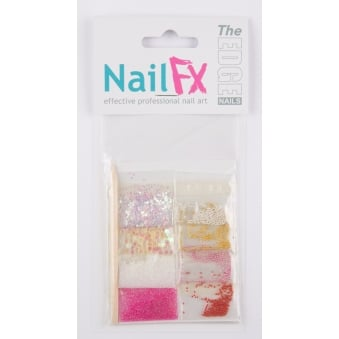 The Edge Nails Deco Sets Pearl/Dust/Flatstones Nails Decoration Nail Art Kit