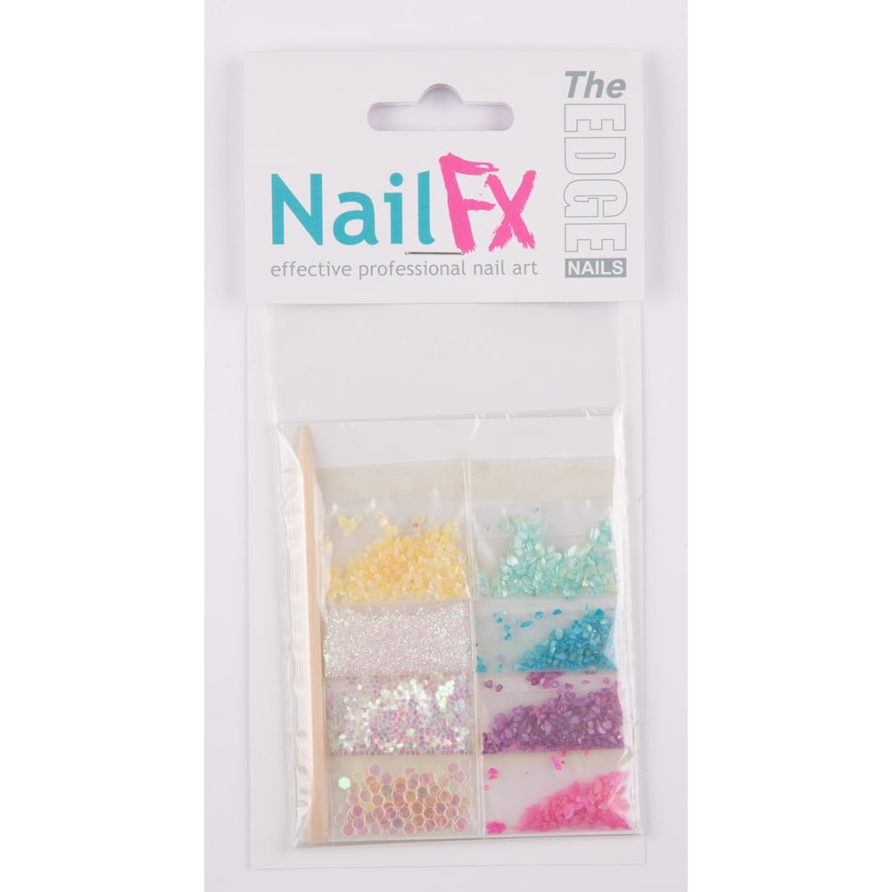 The Edge Nails Deco Sets Shellpearlflatstones Nails Decoration