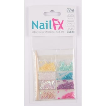 The Edge Nails Deco Sets Shell/Pearl/Flatstones Nails Decoration Nail Art Kit