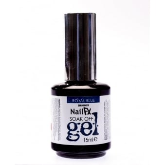 The Edge Royal Blue Shimmer Gel Polish 15ml