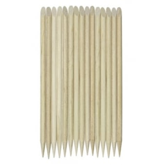 Wood Cuticle Pusher Sticks (pack of 15)