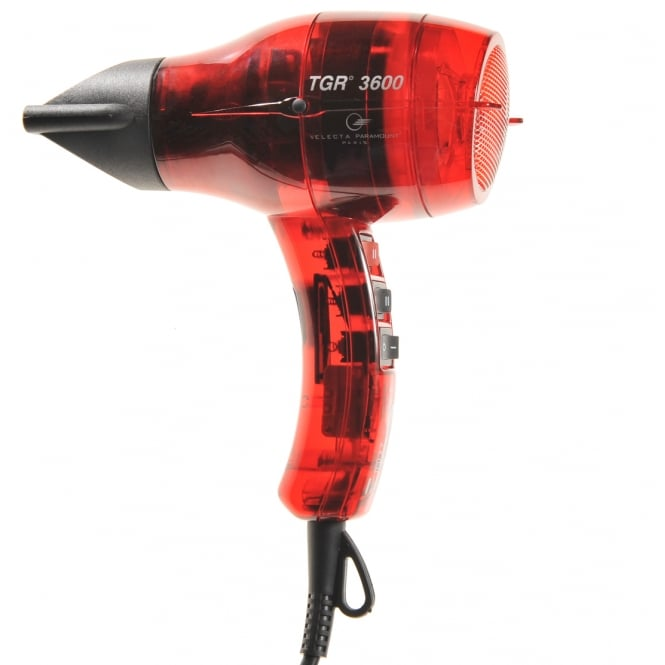 Velecta Paramount TGR 3600 Red Tansparent Professional Hairdryer 1600 Watts